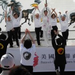 Master Amin Wu and students performed Health Qigong at the Lunar New Year Celebration  2014  in Millbrae, California