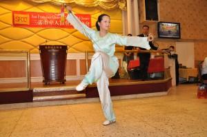 Master Amin Wu performs Tai Chi Sword