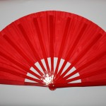 Red fan withour design